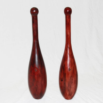 regular Spalding ES Indian clubs in hardwood