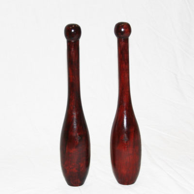 Spalding ES small Indian clubs in tamarind hardwood
