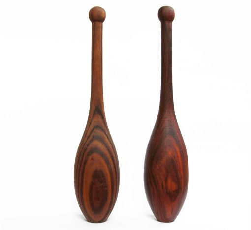 oiled walnut Spalding ES Indian clubs