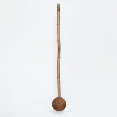 Rootwood mace with bamboo handle