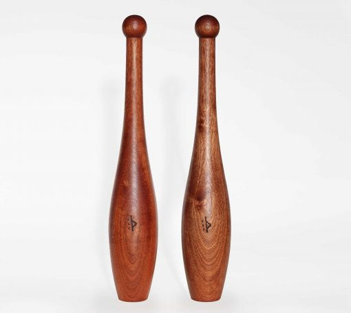 light wood Indian clubs